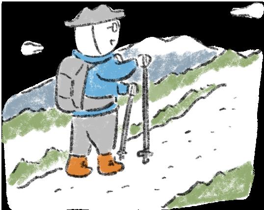 郡上で楽しむ山遊びイラスト