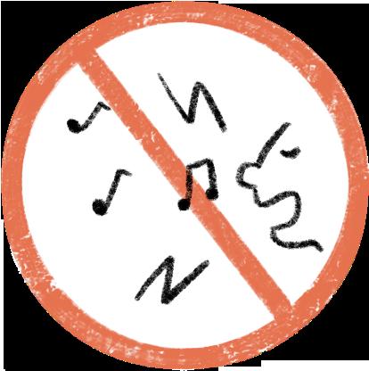観察地付近では大きな声や音を出さないでください。
